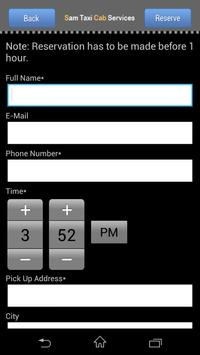 Sam Taxi Cab Service screenshot 2