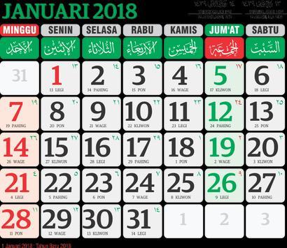 Kalender 2018 Terlengkap poster