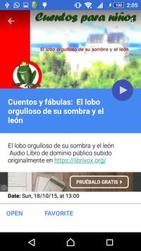Audio cuentos para niños скриншот 2