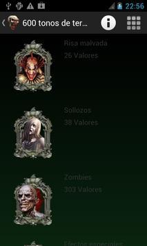 600 free Ringtones of Terror apk screenshot