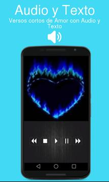 Versos cortos de Amor con Audio y Texto apk screenshot