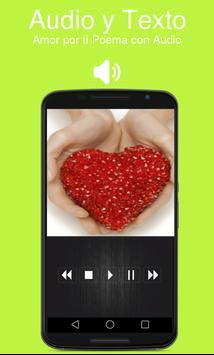 Amor por ti Poema con Audio poster