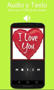 Amor por ti Poema con Audio screenshot 1