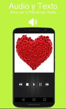 Amor por ti Poema con Audio screenshot 2