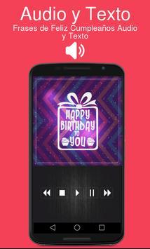 Frases de Feliz Cumpleaños Audio y Texto screenshot 1