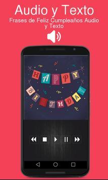 Frases de Feliz Cumpleaños Audio y Texto screenshot 2
