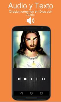 Oracion creemos en Dios con Audio poster