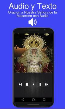 Oracion a Nuestra Señora de la Macarena con Audio poster