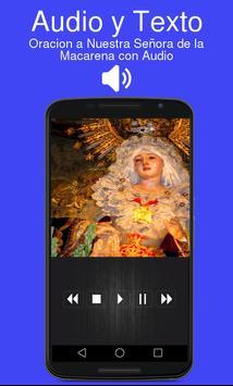 Oracion a Nuestra Señora de la Macarena con Audio screenshot 1