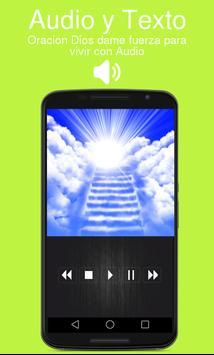 Oracion Dios dame fuerza para vivir con Audio screenshot 1