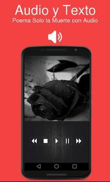 Poema Solo la Muerte con Audio poster