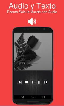 Poema Solo la Muerte con Audio apk screenshot