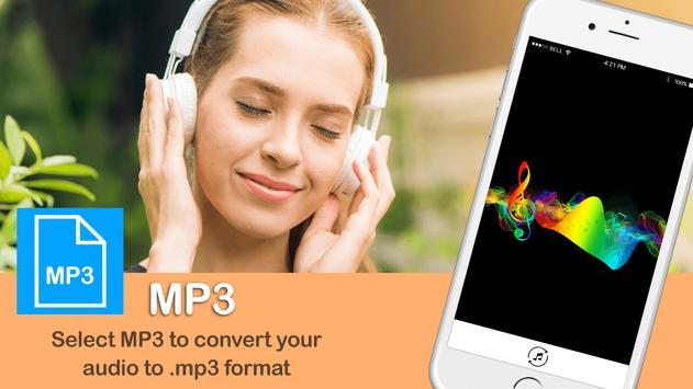 MP3 Audio Converter:MP3:MP3 format changer screenshot 1