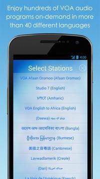 VOA Mobile Streamer تصوير الشاشة 1