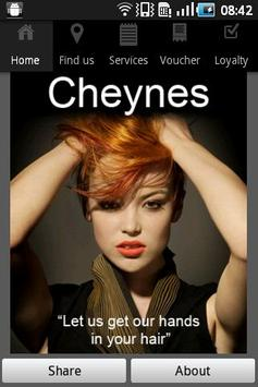 Cheynes Hairdressing poster