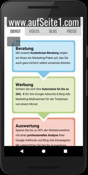 aufSeite1.com mit AdWords poster