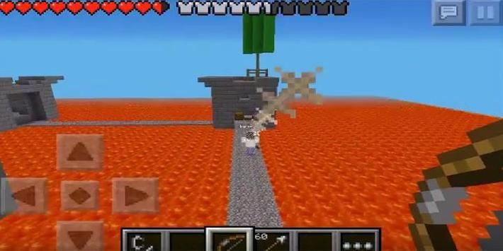 Guide for PvP in the lava map for MCPE apk screenshot