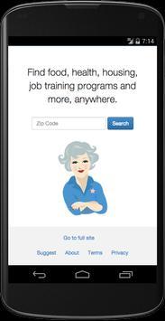 Aunt Bertha Program Search poster