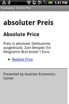 Dictionary of Economic Terms+ apk screenshot