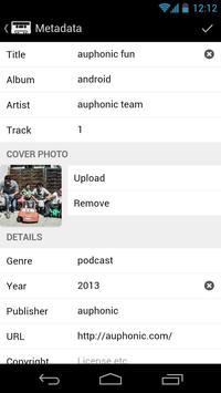 Auphonic Audio Recorder screenshot 3