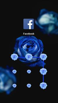 Blue Rose Theme – AppLock poster