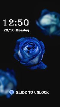 Blue Rose Theme – AppLock apk screenshot