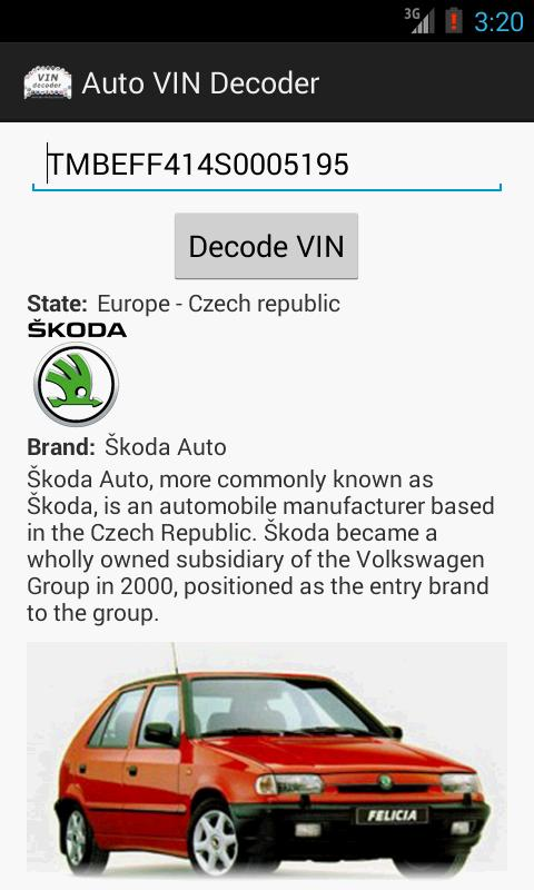 Auto VIN Decoder for Android - APK Download