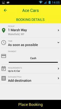 Ace Taxis Wakefield apk screenshot