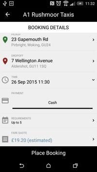 A1 Rushmoor Taxis screenshot 3