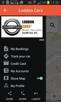 Loddon Cars Reading Taxi poster