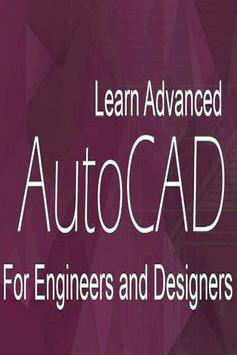 AutoCAD Learning App Autocade Video Tutorial 2D 3D poster