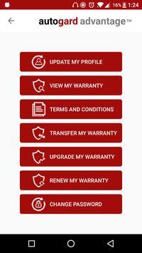 Autogard Advantage - Warranty Holder screenshot 2