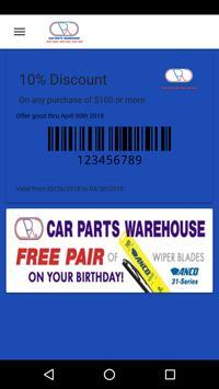 Car Parts Warehouse Club Card poster