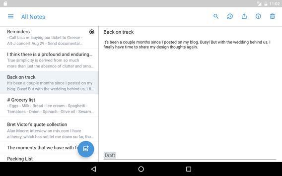Simplenote apk screenshot