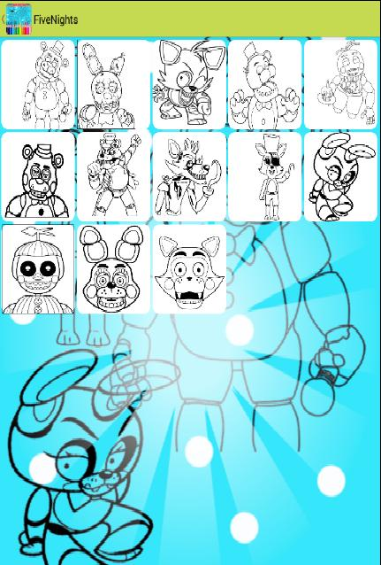 Cartoon Coloring Pages Drawing Five Nights Edition For Android Apk Download