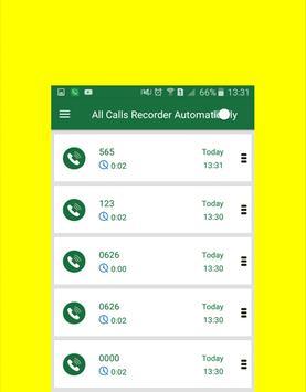 automatic app calls recorder apk screenshot