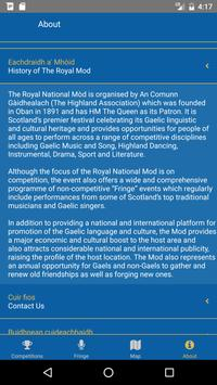 Royal National Mòd 2016 apk screenshot