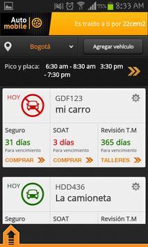 AutoMobile - Pico y Placa screenshot 2