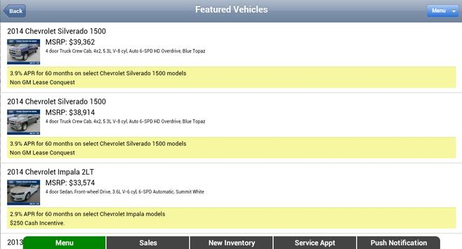 Gene Messer Chevrolet apk screenshot