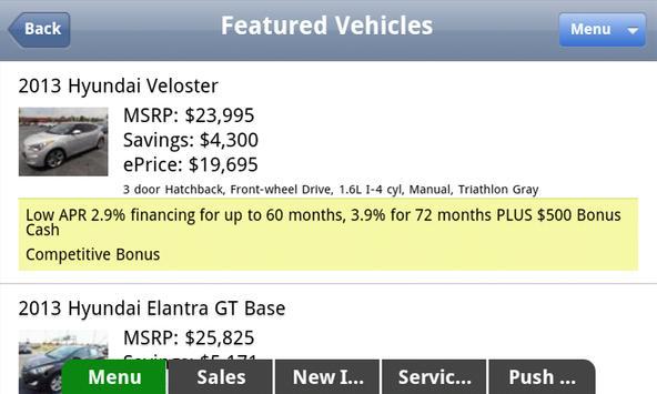 Gene Messer Hyundai screenshot 3