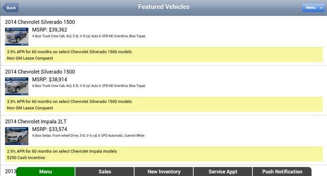 Munday Chevrolet apk screenshot