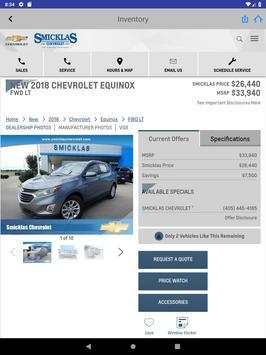 Smicklas Chevrolet screenshot 13