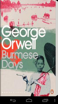 Burmese Days by George Orwell poster