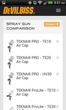 DeVilbiss - Spray Gun App apk screenshot