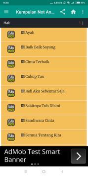 Kumpulan Not Angka Lagu Indonesia screenshot 7