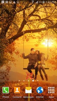Love In Autumn Live Wallpaper apk screenshot