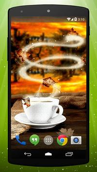 Autumn Tea Live Wallpaper apk screenshot