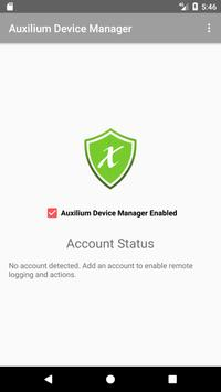 Auxilium Mobile Device Manager poster