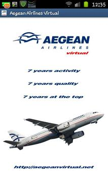 Aegean Airlines Virtual poster