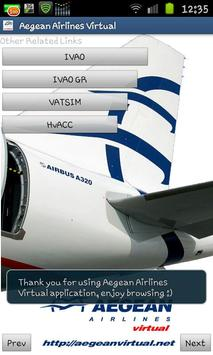Aegean Airlines Virtual screenshot 2